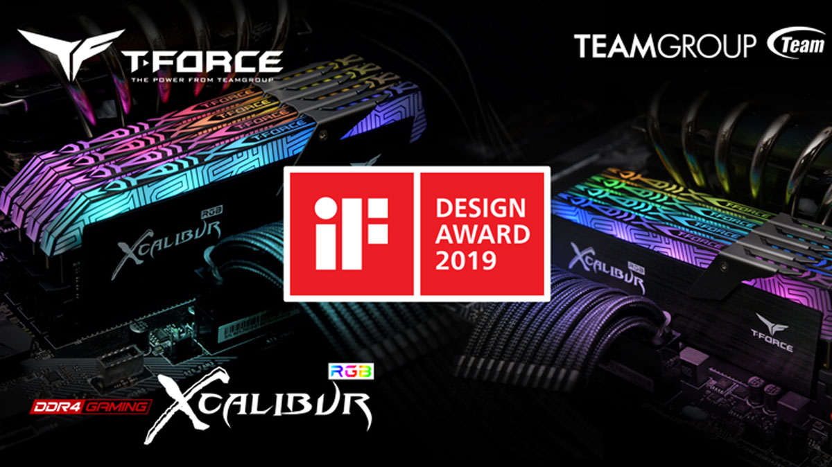 TEAMGROUP T-FORCE XCALIBUR RGB Won The 2019 IF Design Award