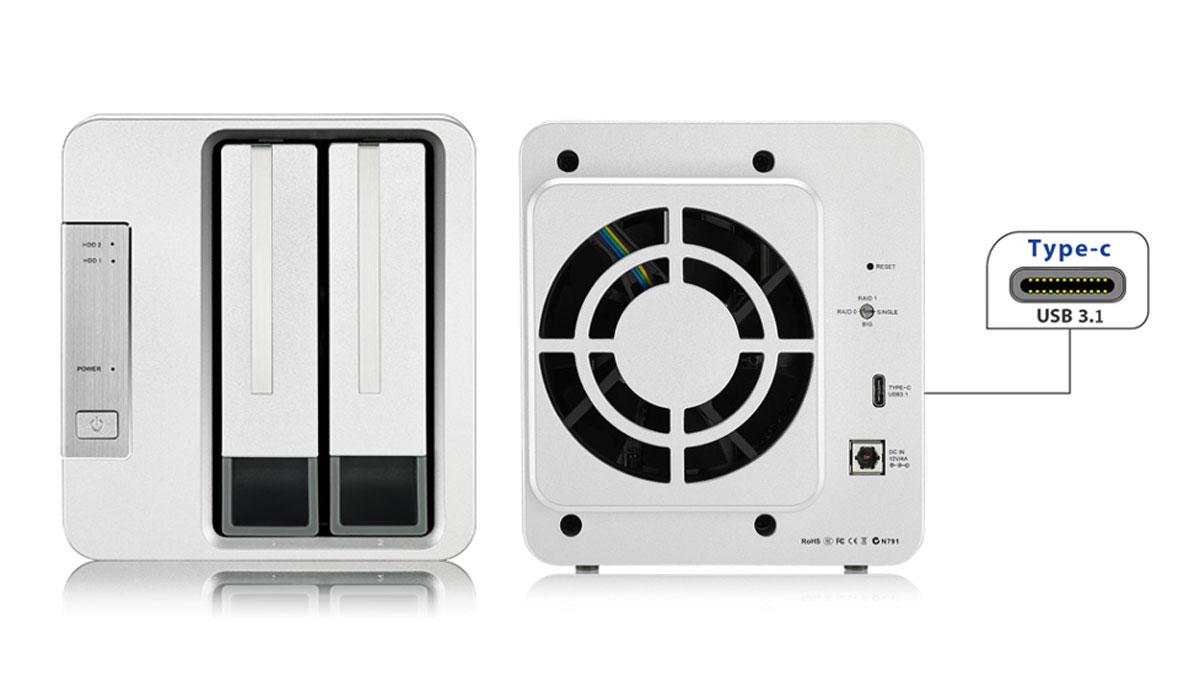 TerraMaster Intros D2-310 2-Bay RAID Storage with USB 3.1