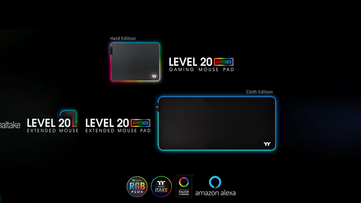 Thermaltake Releases Level 20 RGB Gaming Mouse Pad Series