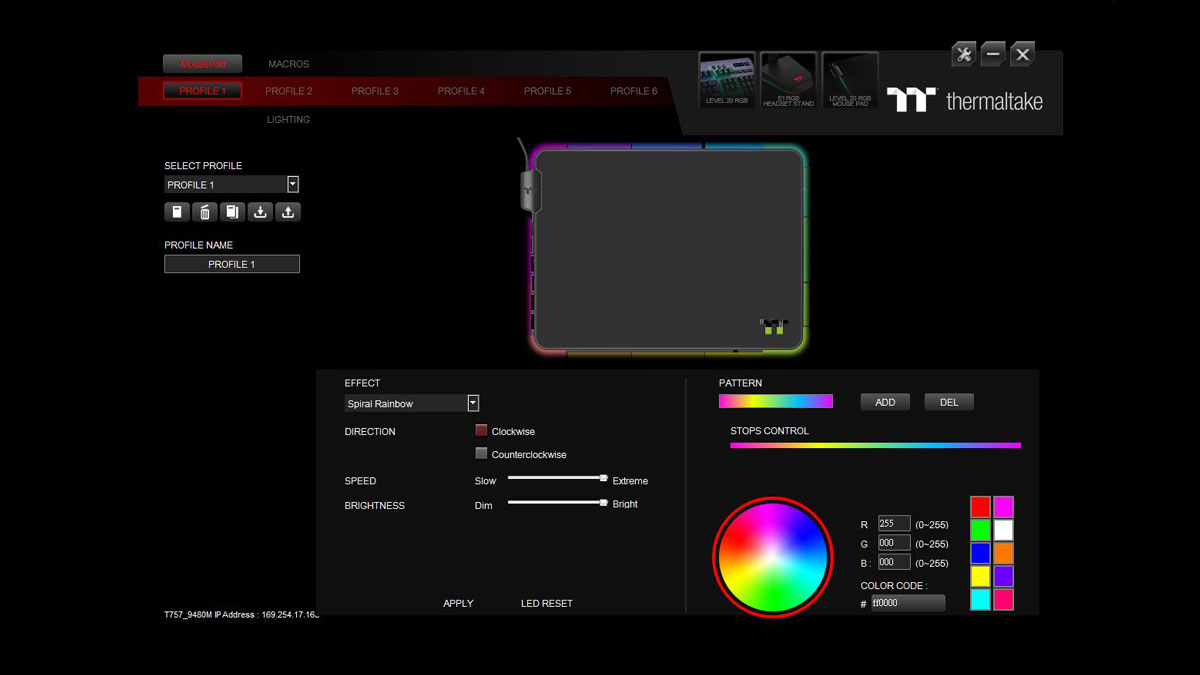 Thermaltake Level 20 RGB Mouse Pad Review 10