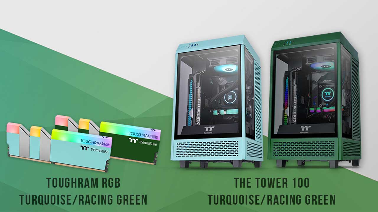 Thermaltake Unveils Multi-Color Tower 100 Mini and TOUGHRAM RGB