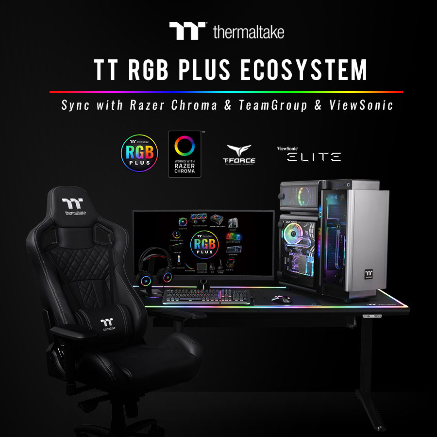 Thermaltake Partners with Razer, TEAMGROUP and ViewSonic