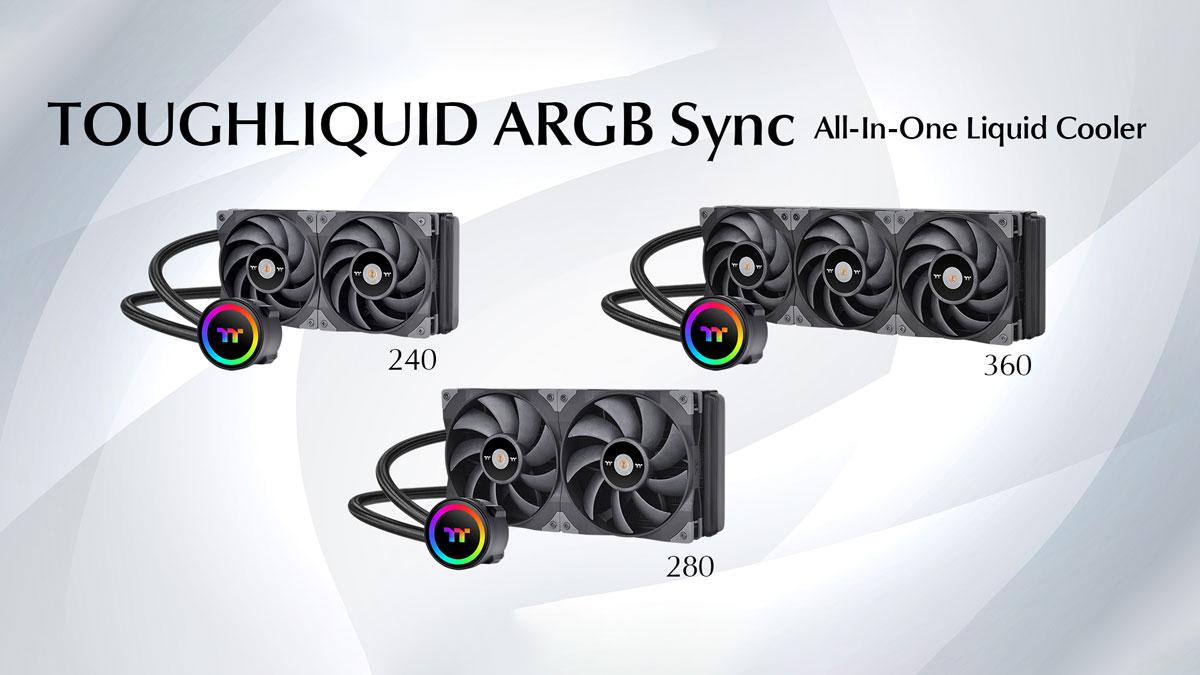 Thermaltake Announces TOUGHLIQUID 240/280/360 ARGB Coolers