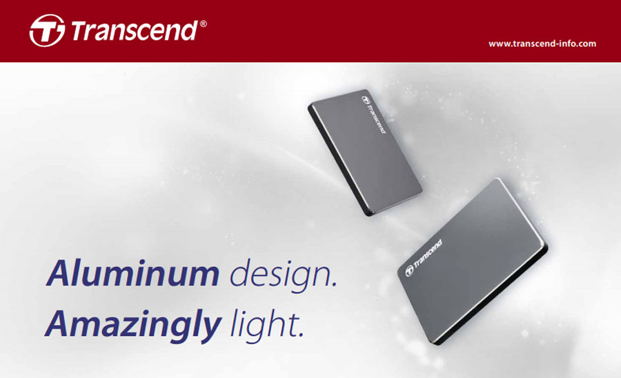 Transcend Introduces Ultra Slim Portable Storage StoreJet 25C3