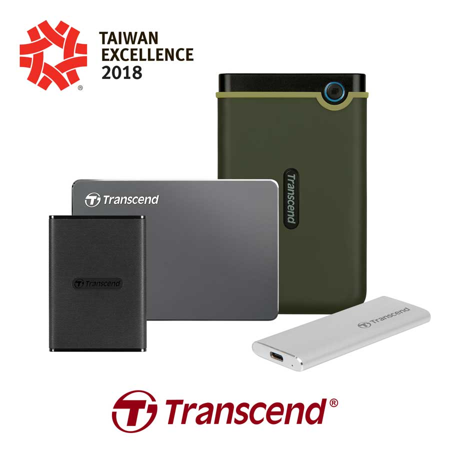 Transcend Grabs Four Taiwan Excellence Awards This 2018