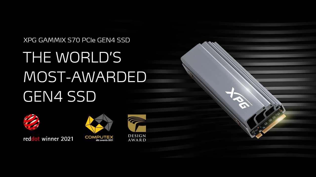XPG GAMMIX S70 Wins 2021 COMPUTEX d&i Award