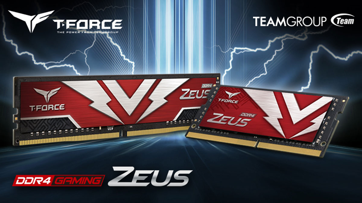 TEAMGROUP Launches New ZEUS Series Memory Modules