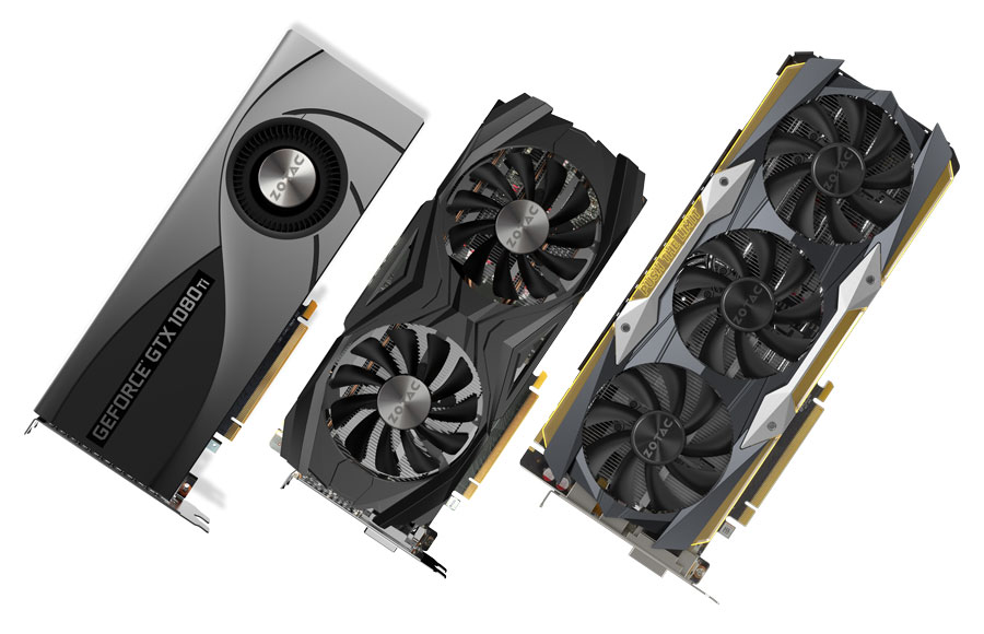 ZOTAC Unleashes Triple GTX 1080 TI Models