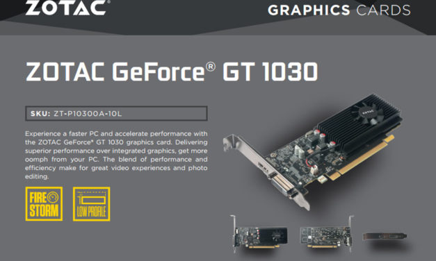 ZOTAC GeForce GT 1030 Released