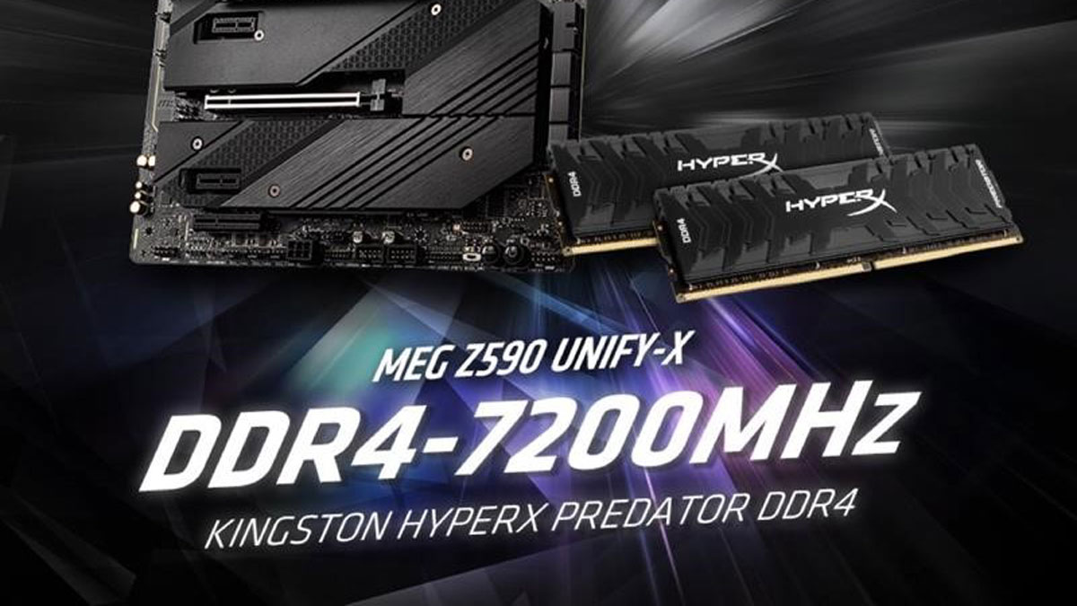 Kingston HyperX and MSI Sets DDR4 Overclocking Record at 7200MHz